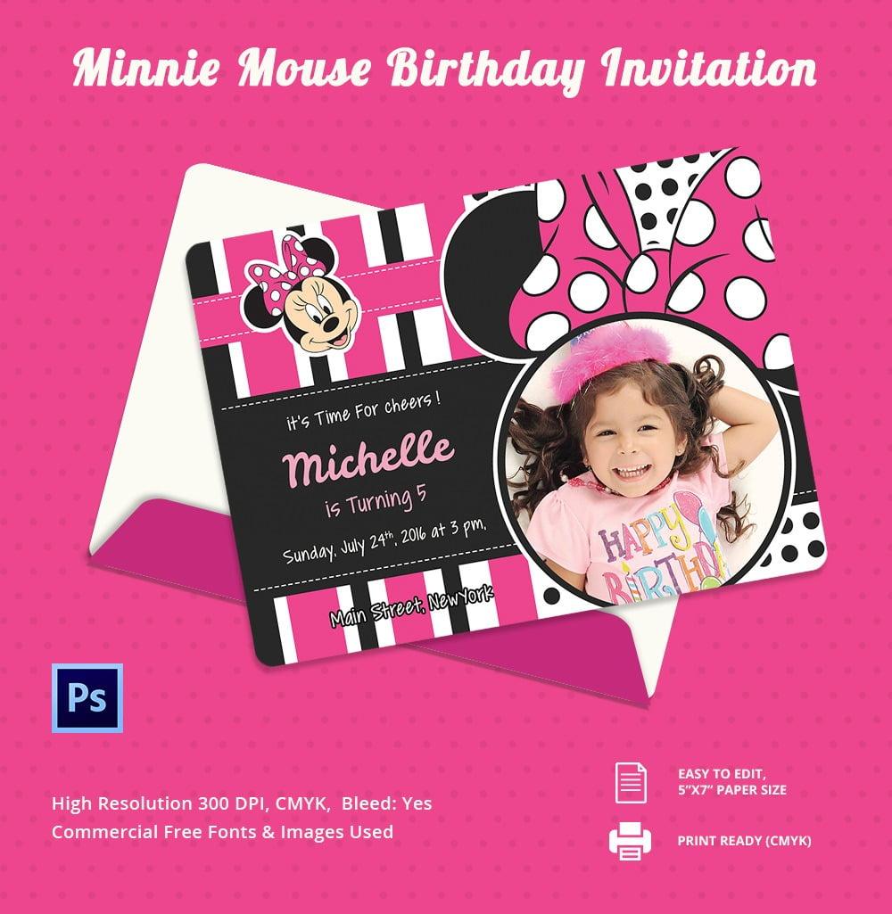 Editable Minnie Mouse Invitation I Trend Editable Minnie Mouse