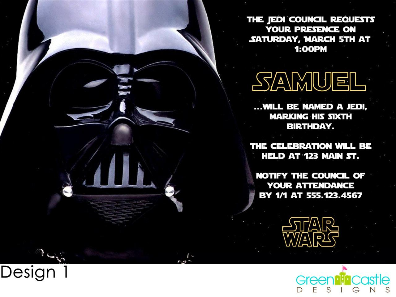 Elegant Star Wars Birthday Invites 73 About Remodel Invitations