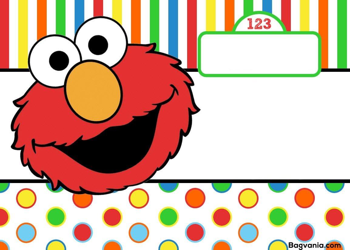 Epic Elmo Birthday Invitations 23 For Invitation Design