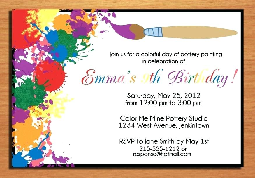 Examples Of Birthday Invitations Inspirational With Examples Of