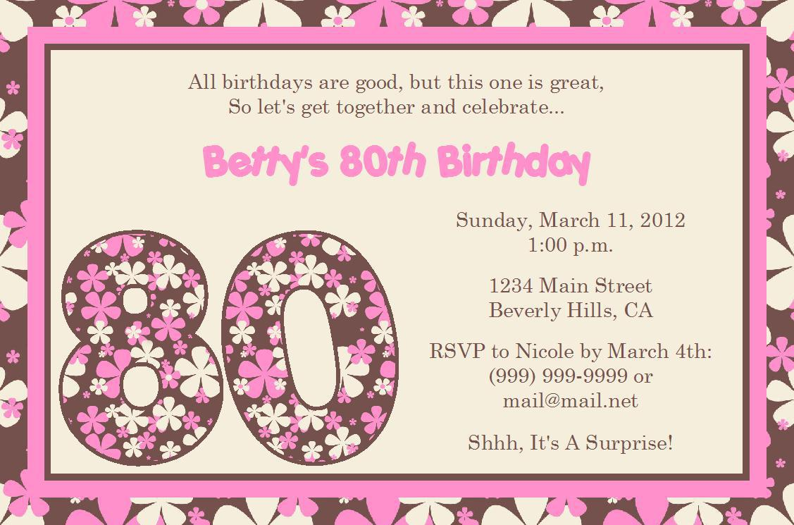 Examples Of Birthday Invitations Vintage With Examples Of Birthday