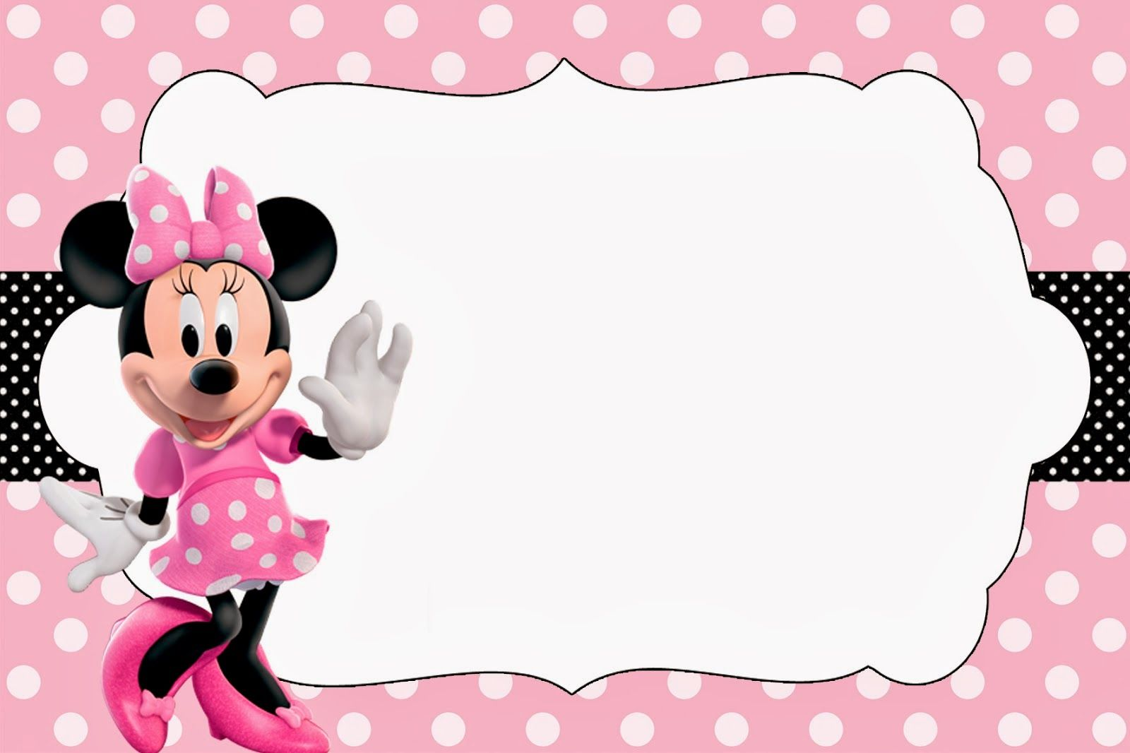 Minnie Rosa  Invitaciones, Imprimibles, Imágenes Y Fondos Para