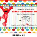 Free Elmo Invitation Download