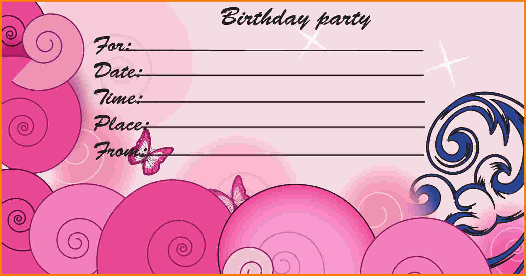 Free Printable Birthday Invitation Cards » Invitation Card Ideas