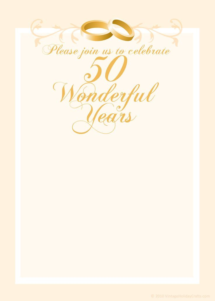 Invitation Ideas  50th Wedding Anniversary Invitation Templates