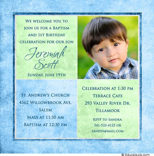 First Birthday And Baptism Invitation Wording Ideal With First