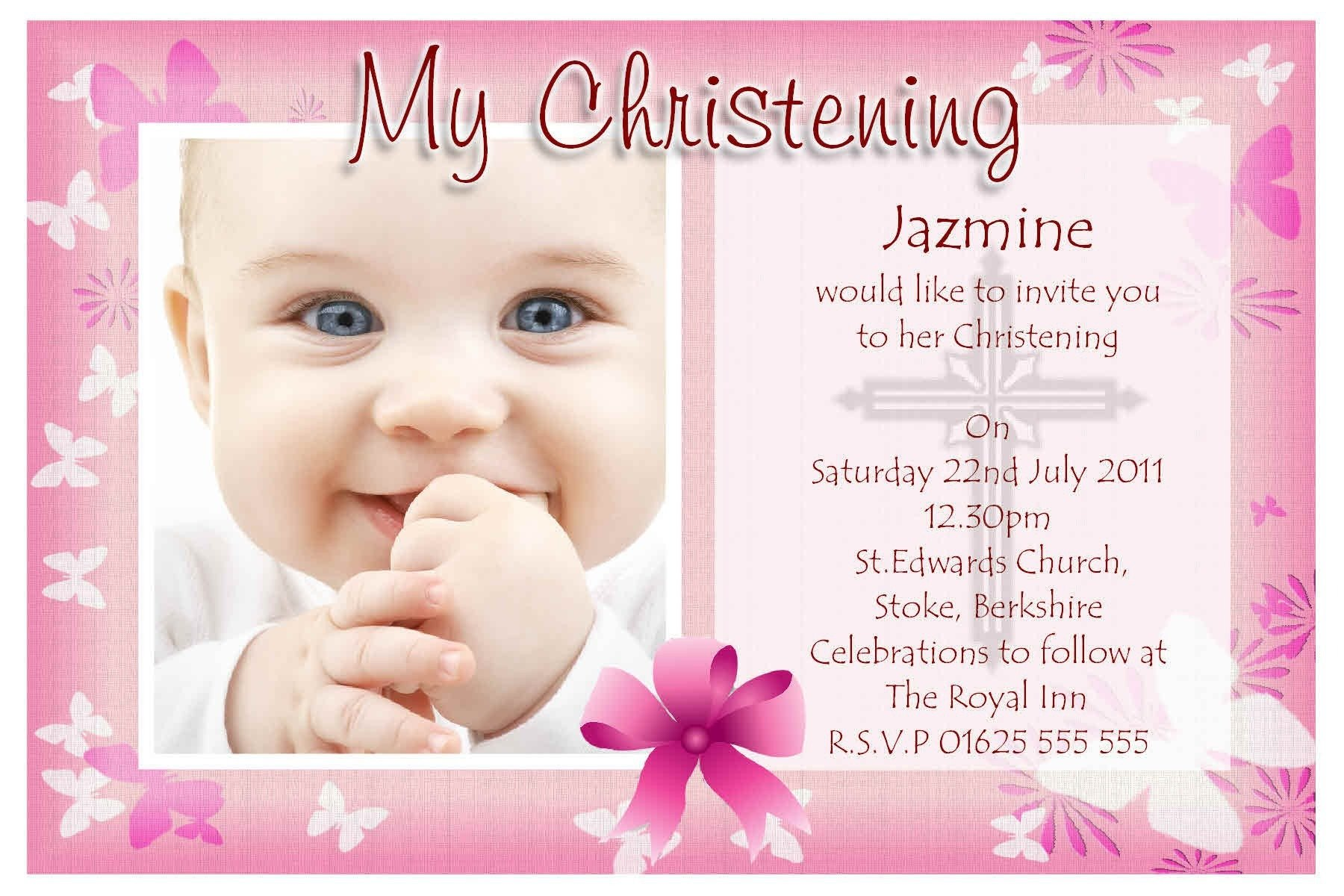 Free Christening Invitation Templates Baptism Invitations Cards