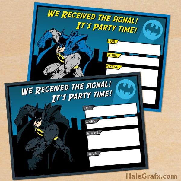 Free Batman Invitations Great Free Batman Invitation Template