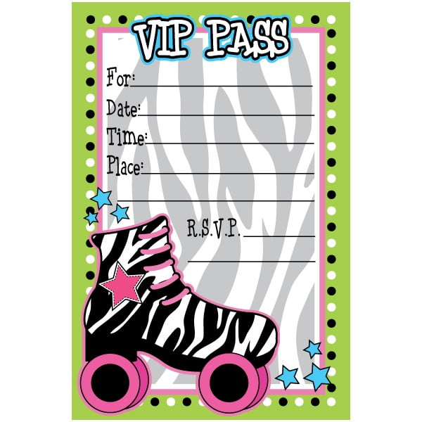 Free Birthday Invitation T Simple Skate Party Invitations Free