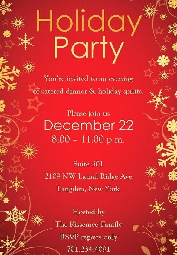 Christmas Party Invitations Free Template Durunugrasgrup