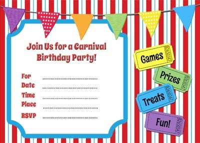 Free Circus Birthday Invitations Printables Free Carnival