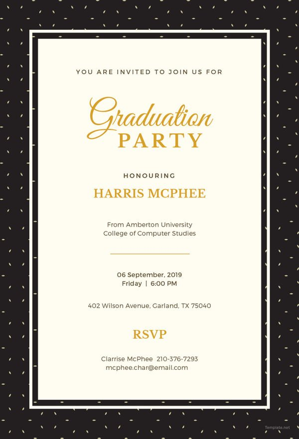 Free Graduation Invitation Template Fancy Graduation Invitations