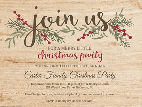 14 Free Diy Printable Christmas Invitations Templates  24700500683