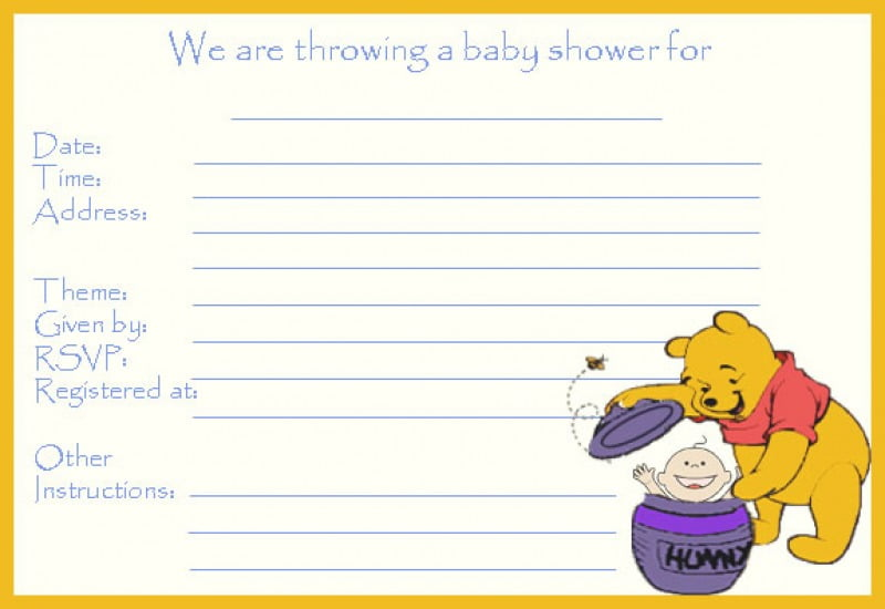 Free Printable Baby Shower Invitation To Save Your Money Baby Cute