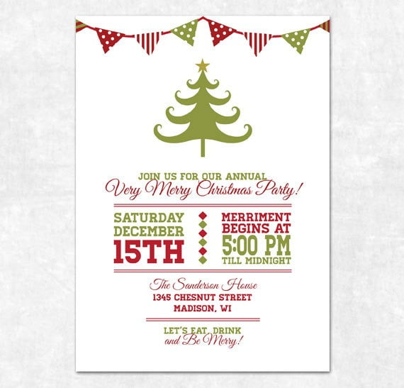 Free Printable Christmas Party Invitations Templates Amazing Free