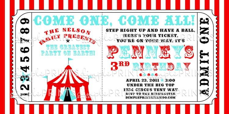 Carnival Themed Invitations Templates Free Invitation Template