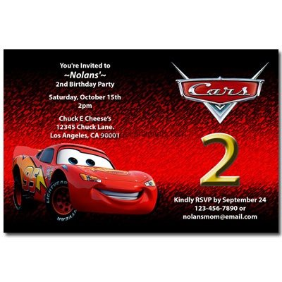Free Printable Disney Cars Birthday Party Invitations Elegant With