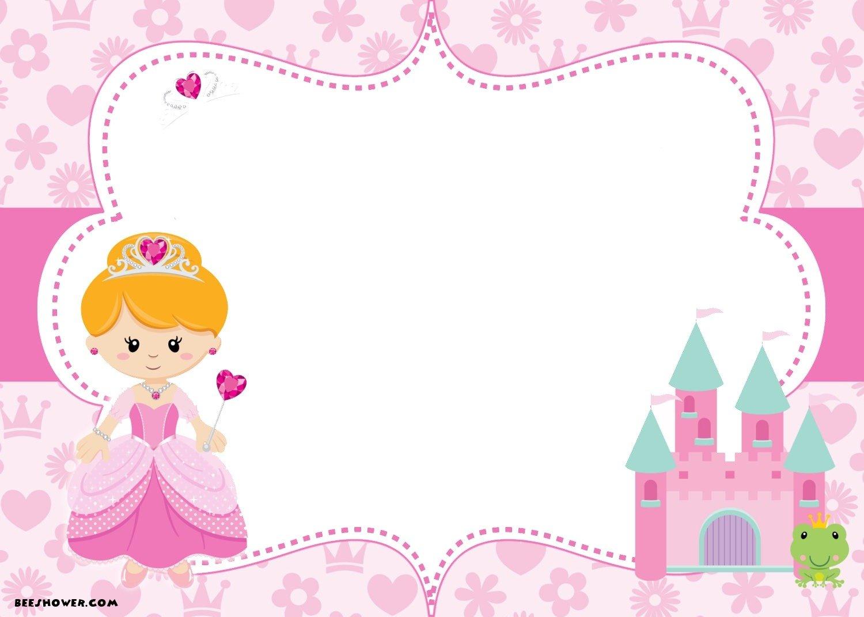 Free Printable Disney Princess Birthday Invitations Template With