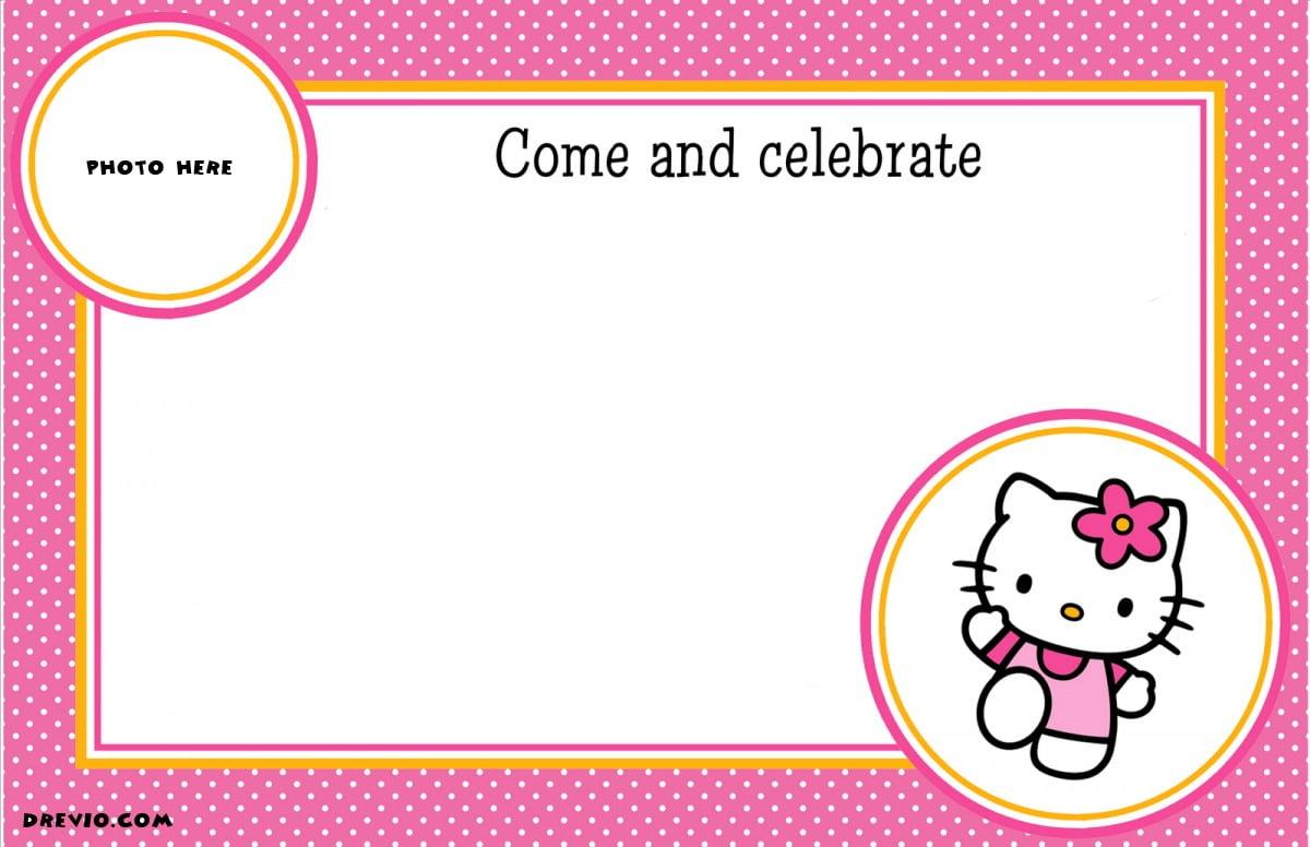 Free Personalized Hello Kitty Birthday Invitations