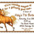 Birthday Invitations Free Horse