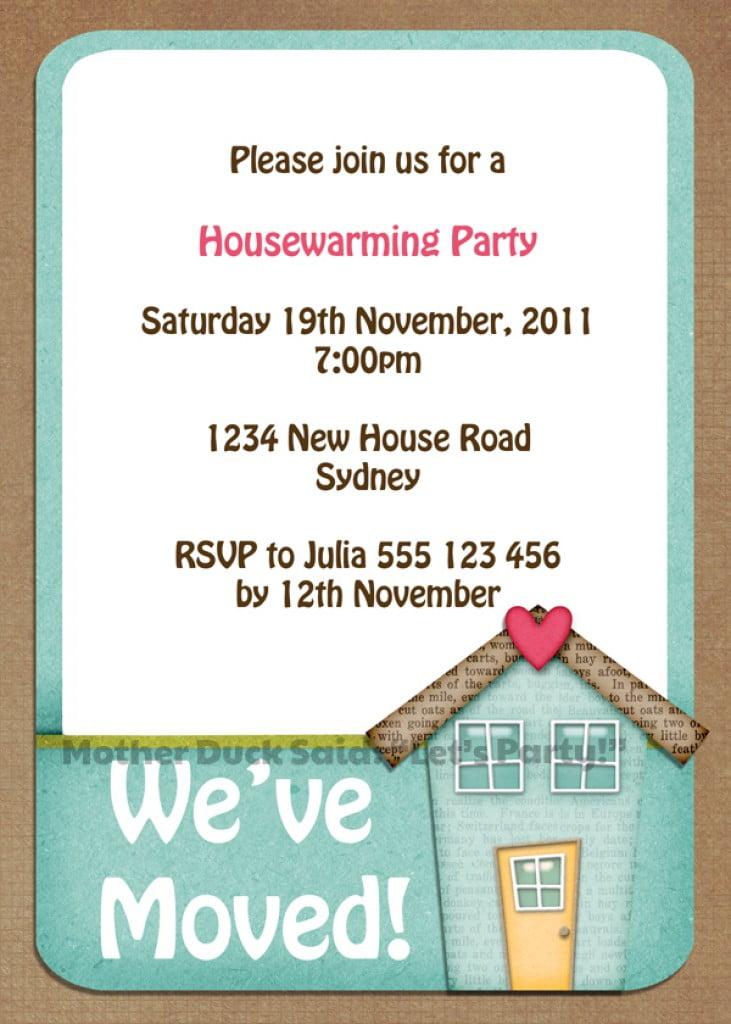 Free Printable Housewarming Party Invitations Templates