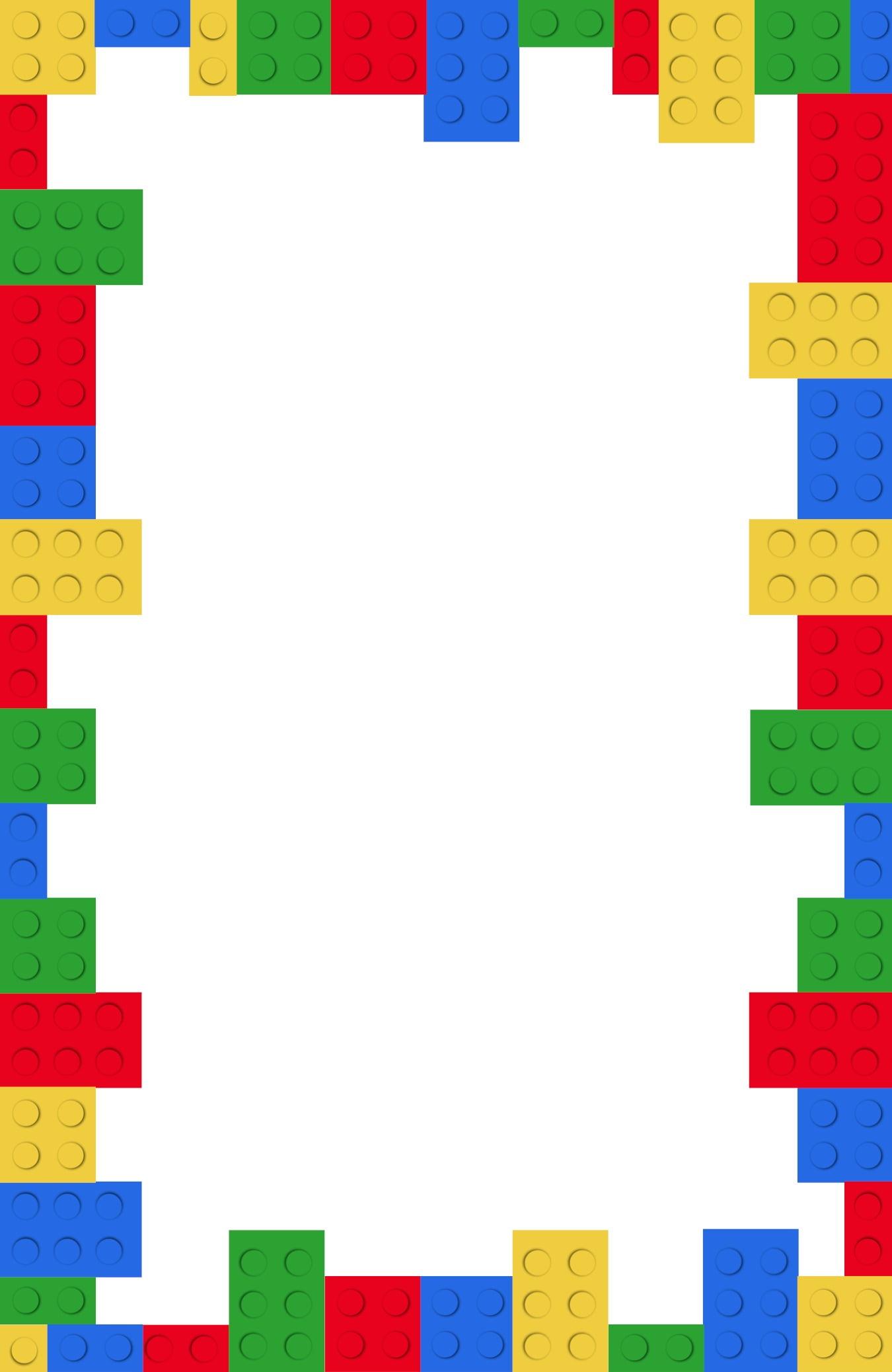 Lego Birthday Invitation Templates Vintage Lego Birthday