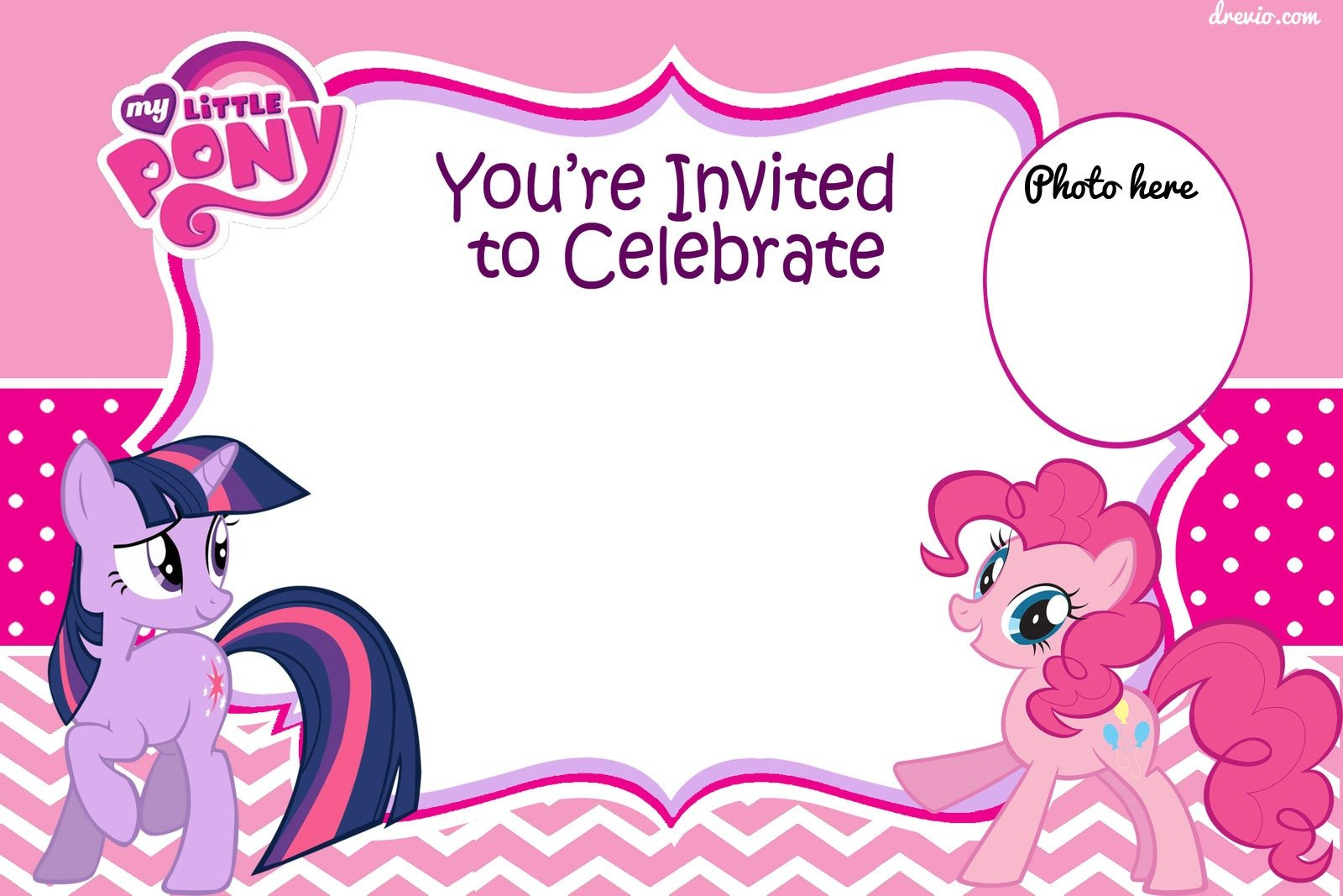 Updated) Free Printable My Little Pony Birthday Invitations