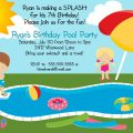 Pool Party Invitation For Kids Free Printable