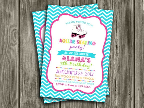 Free Printable Roller Skating Birthday Party Invitations Luxury