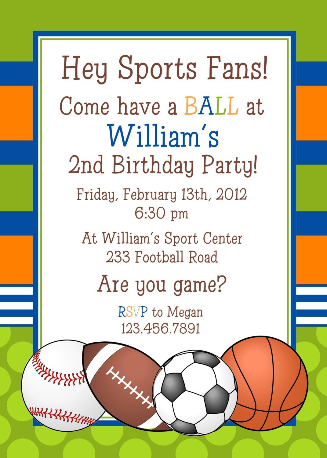 Free Printable Sports Birthday Invitation Templates Amazing With