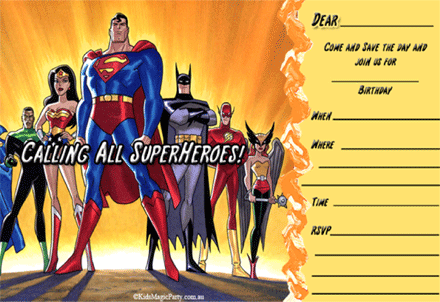 Download Free Printable Superhero Birthday Invitations Free For
