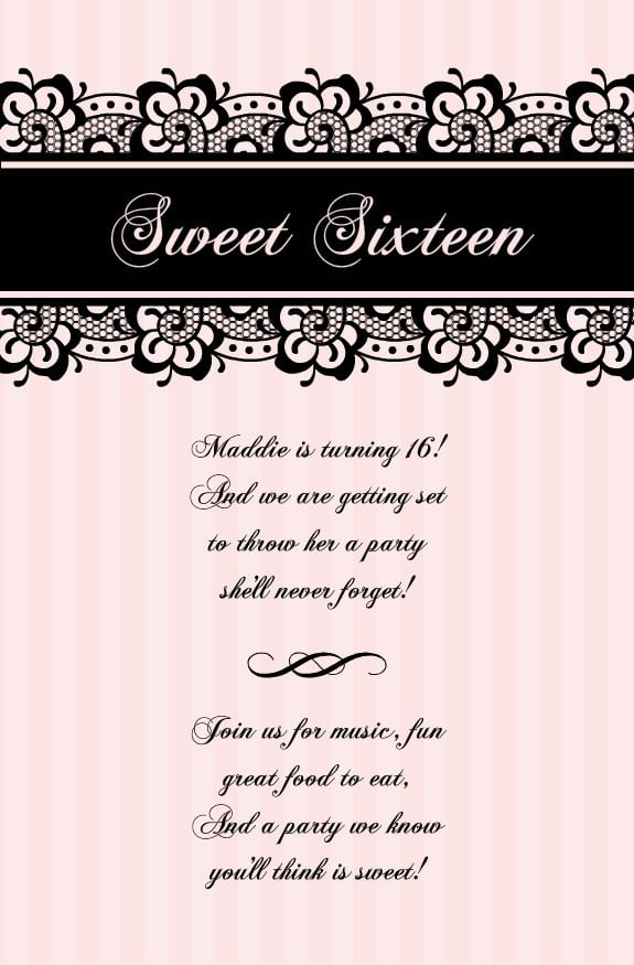 Sweet Party Invitation Templates Free Awesome Sweet Party Cool