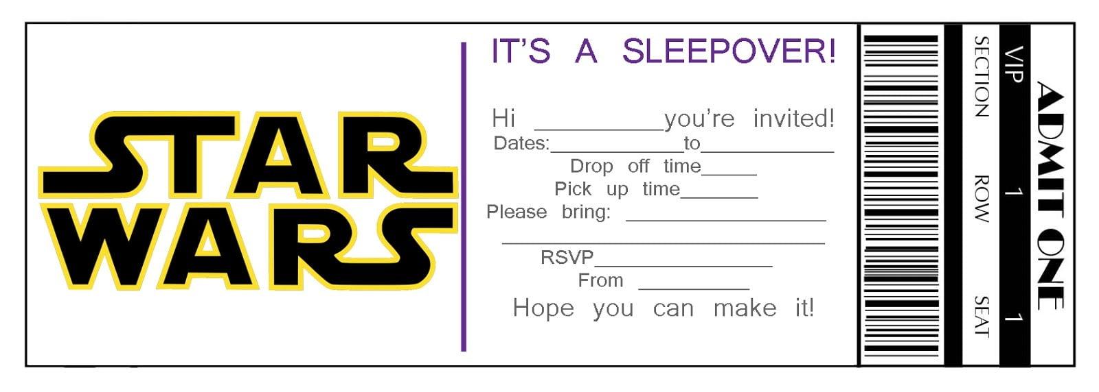 Free Printable Birthday Invitations For Boys Sleepover Party