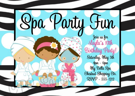 Spa Invitations New Spa Birthday Party Invitations Printables Free