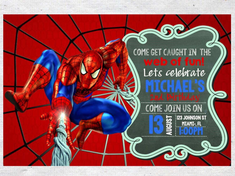 Birthday Invitations  Spiderman Birthday Invitations For A