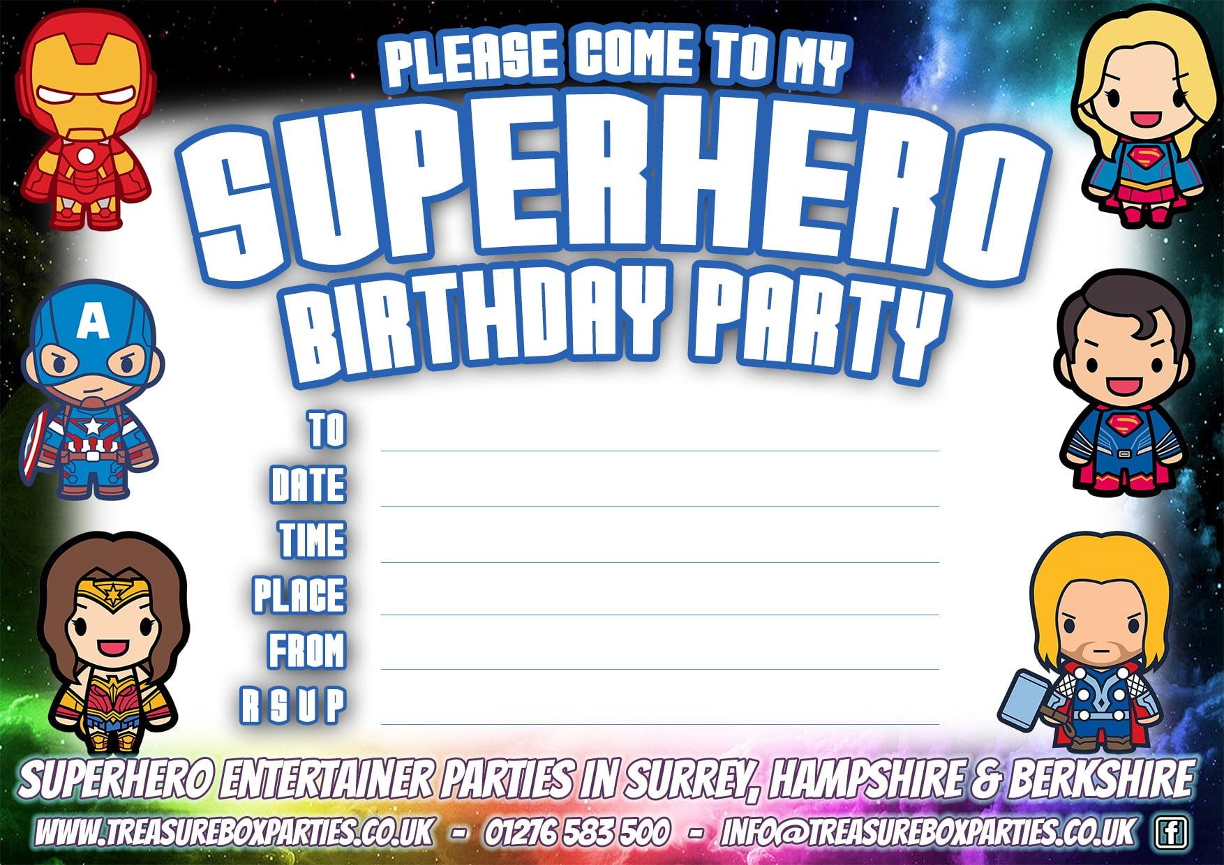 Perfect Printable Superhero Party Invitations
