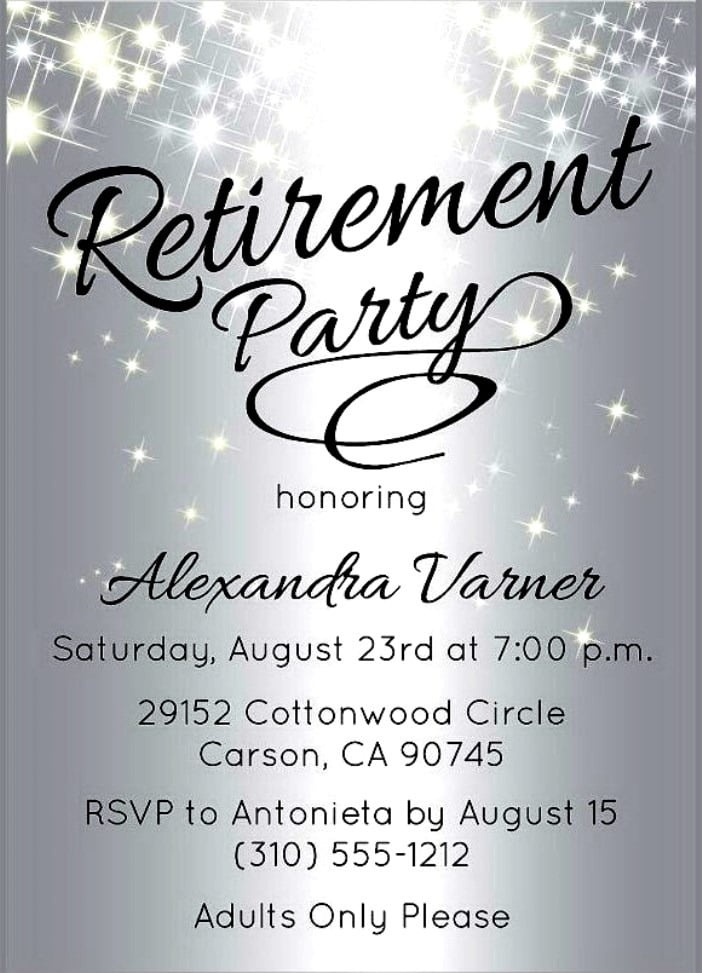 Free Templates For Retirement Party Invitations Fancy With Free