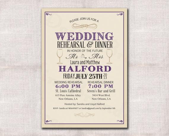 Free Wedding Rehearsal Dinner Invitation Templates Nice With Free