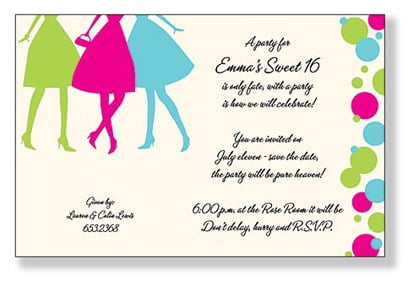 Fresh Girl Party Invitations