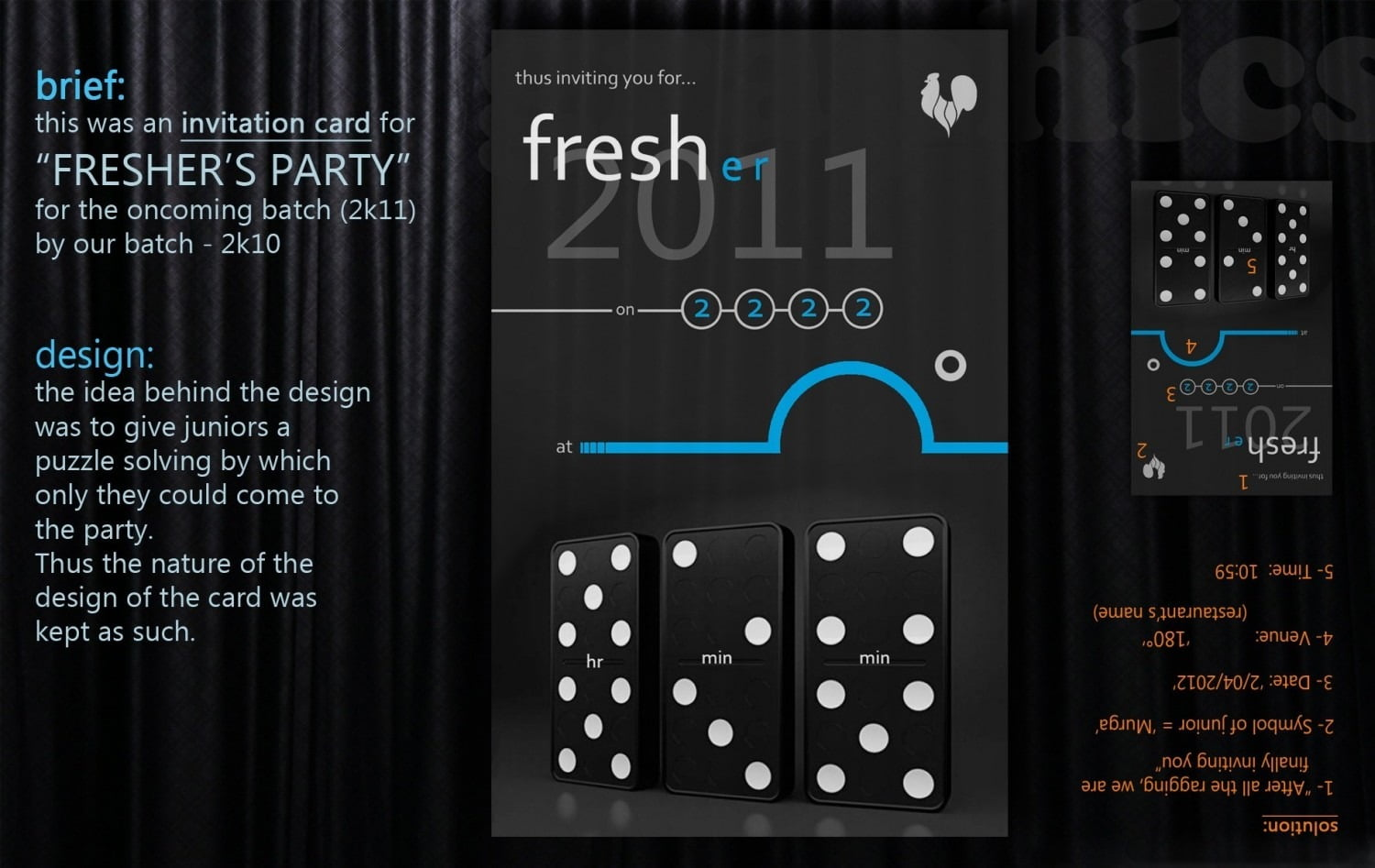 Invitation Card For Freshers Party