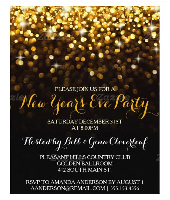 New Years Eve Party Invitation Ideas Invitation Wording For New