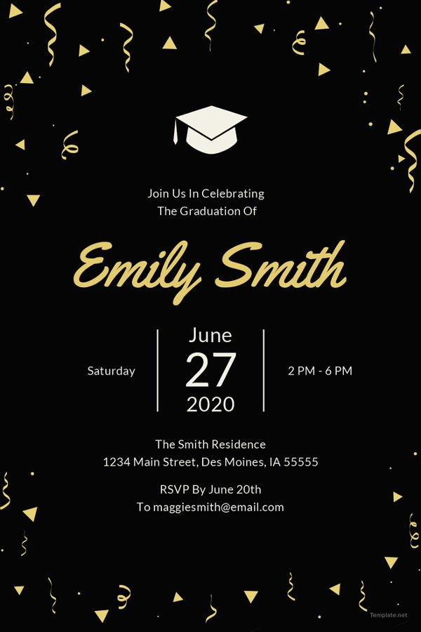 40 free graduation invitation templates ᐅ template lab - 600×900