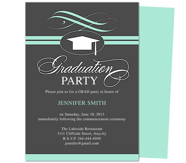 Graduation Invitation Templates Best With Graduation Invitation
