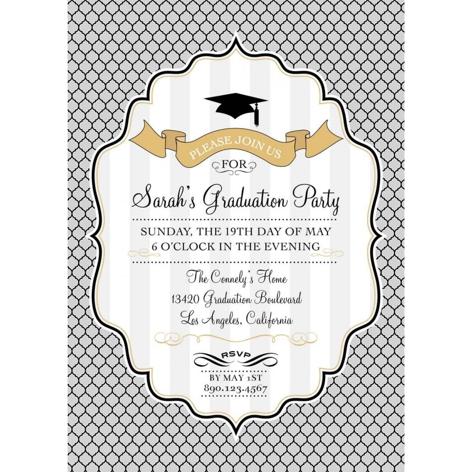 Graduation Invite For The Perfection Of Your Idea In Organizing