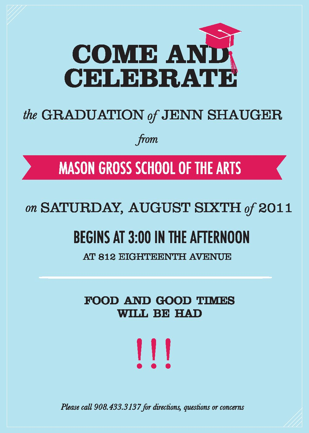 Graduation Party Invitation Letter