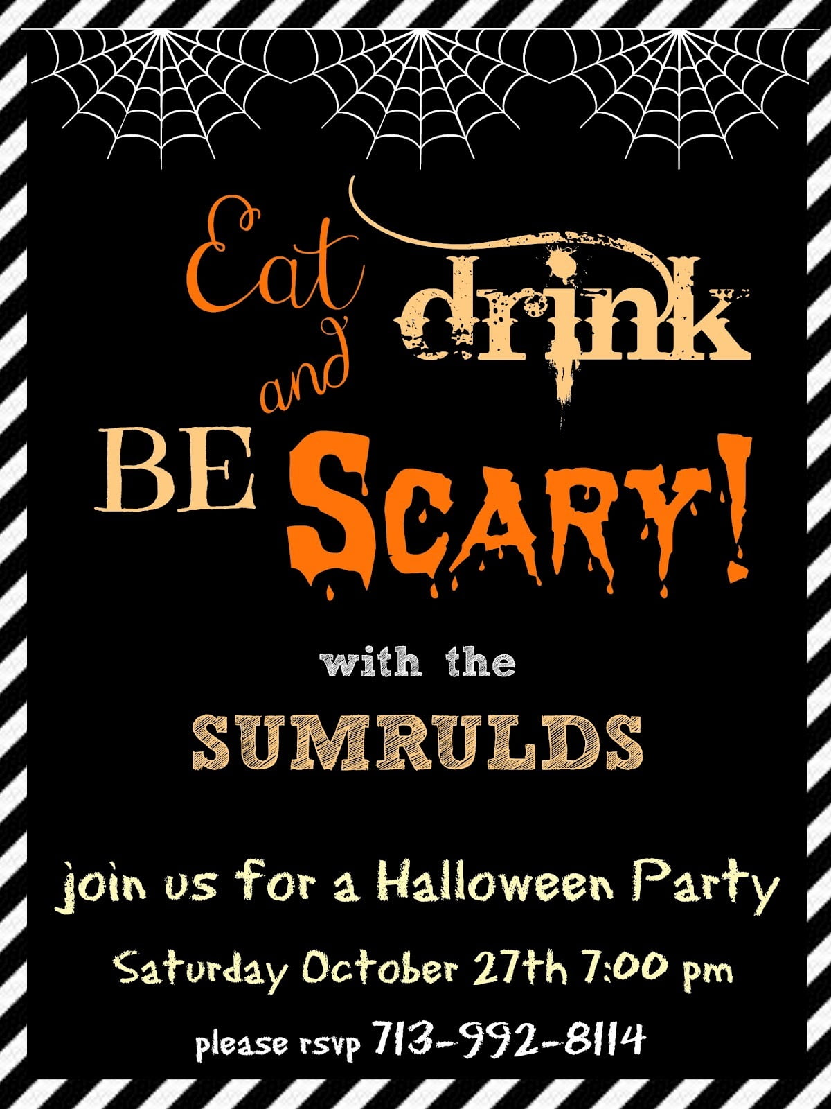 Halloween Party Invitations Templates For The Invitations Design