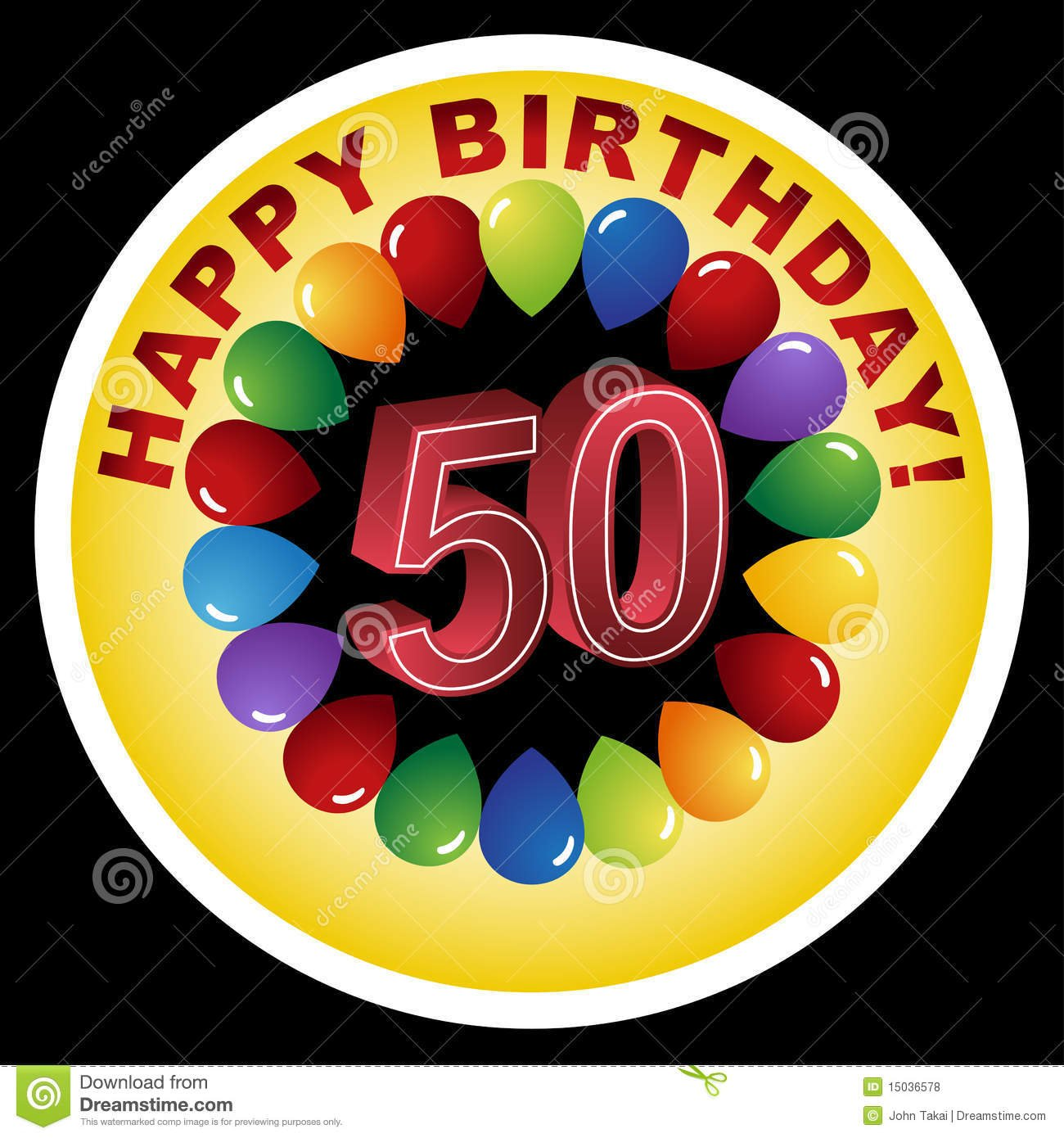 Happy 50th Birthday! Stock Vector  Illustration Of Illustration