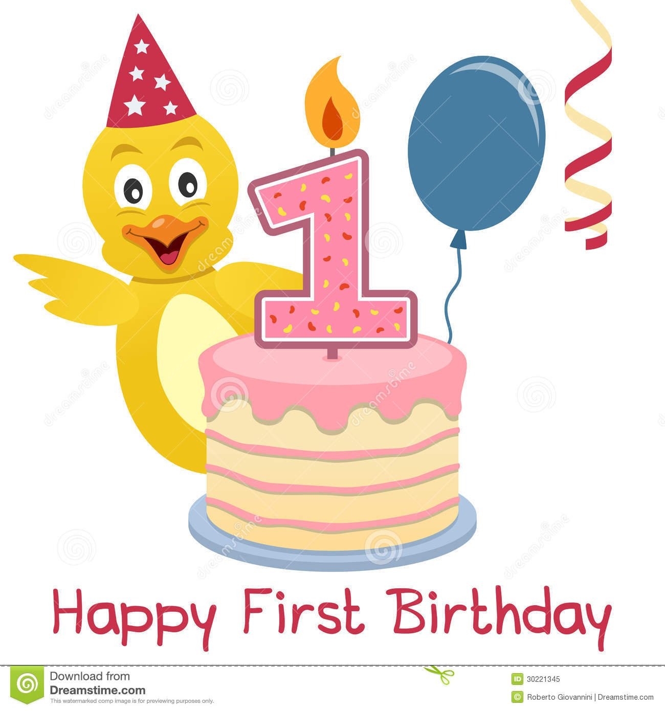 First Birthday Cute Chick Stock Vector  Illustration Of Animal