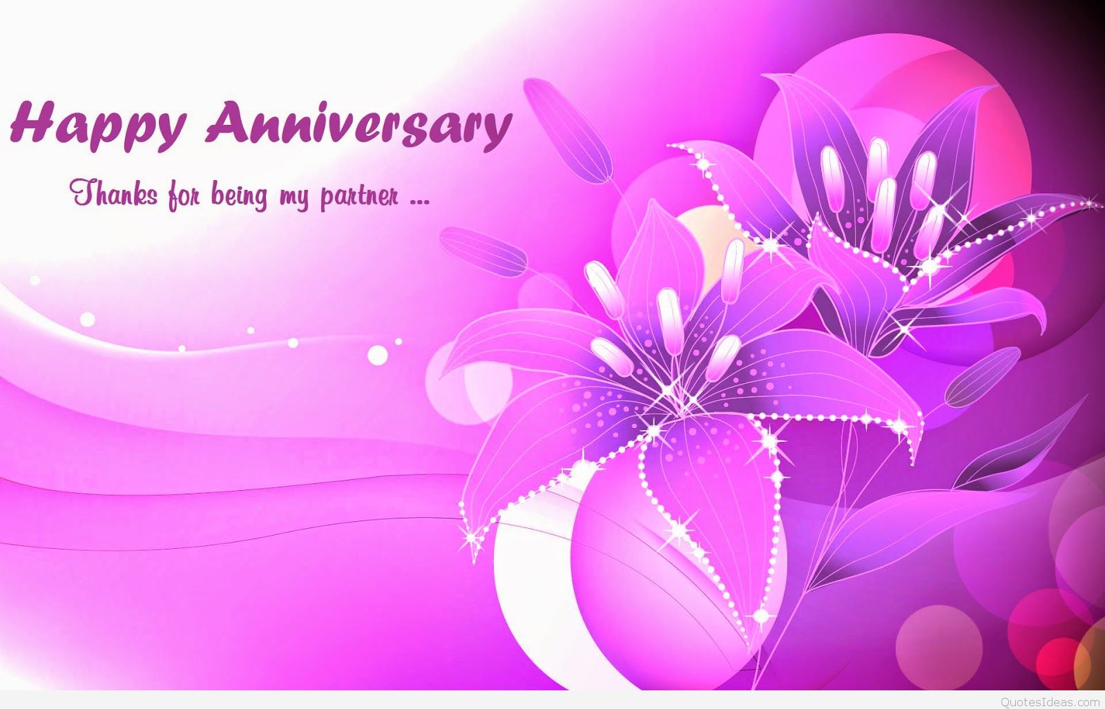 Background Pink Happy Anniversary