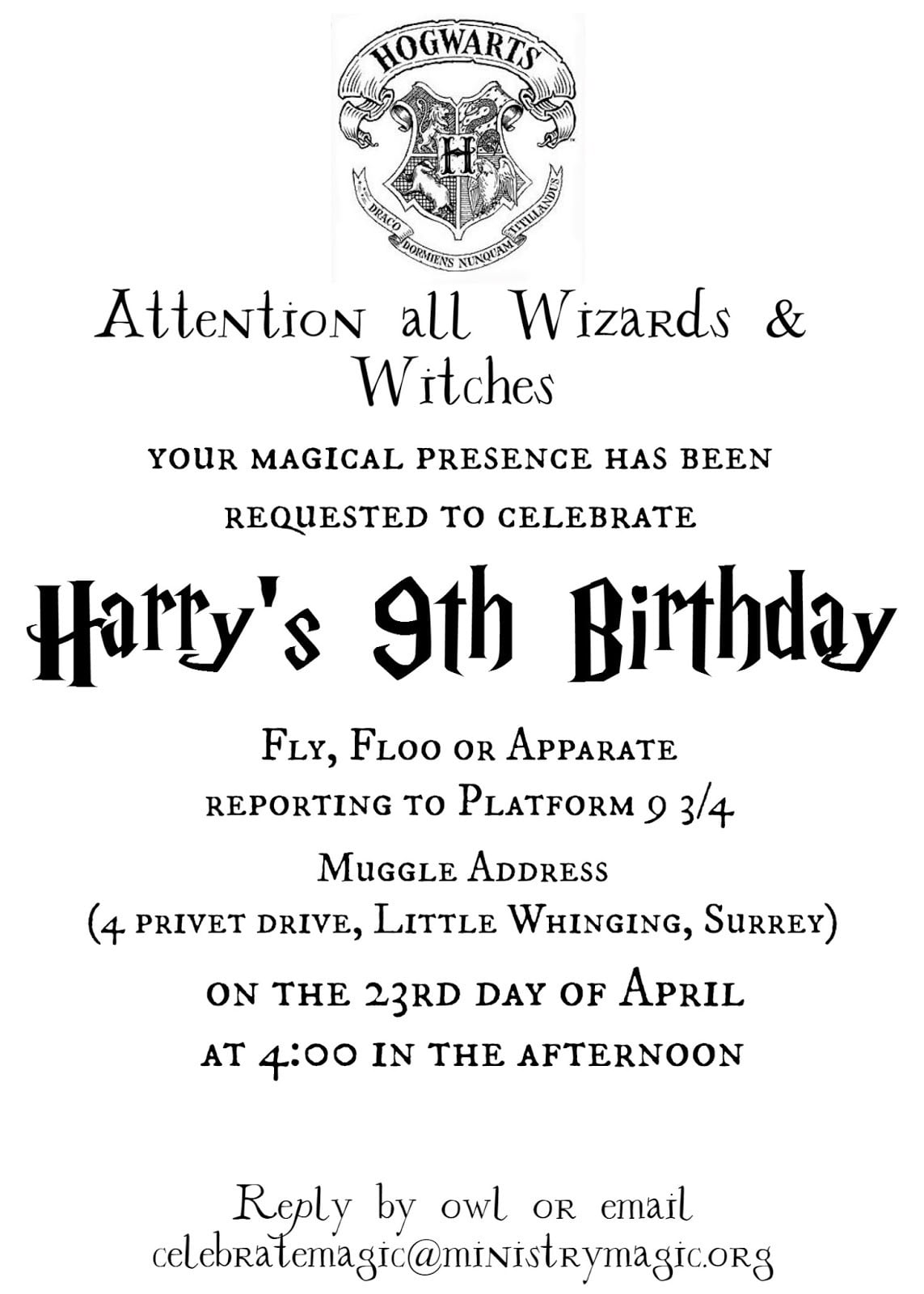 Tattered And Inked  Harry Potter Party Free Printables And Source